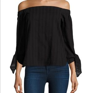 Bailey 44 Yarrow black Off The Shoulder Top